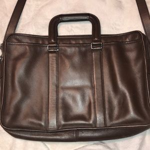 Brown Leather Coach Briefcase